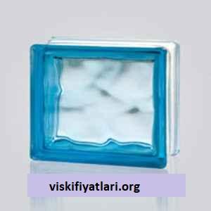 Mavi Renkli Dalgalı Cam Tuğla